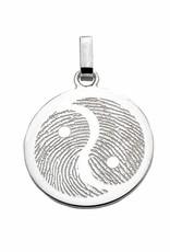 Pendentif Yin Yang, plat