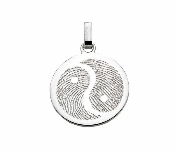 Yin Yang anhänger,  flach