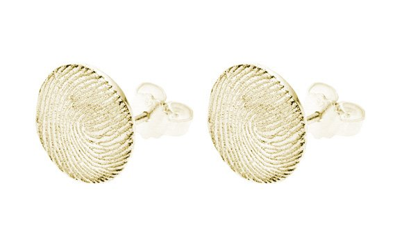Earrings, round