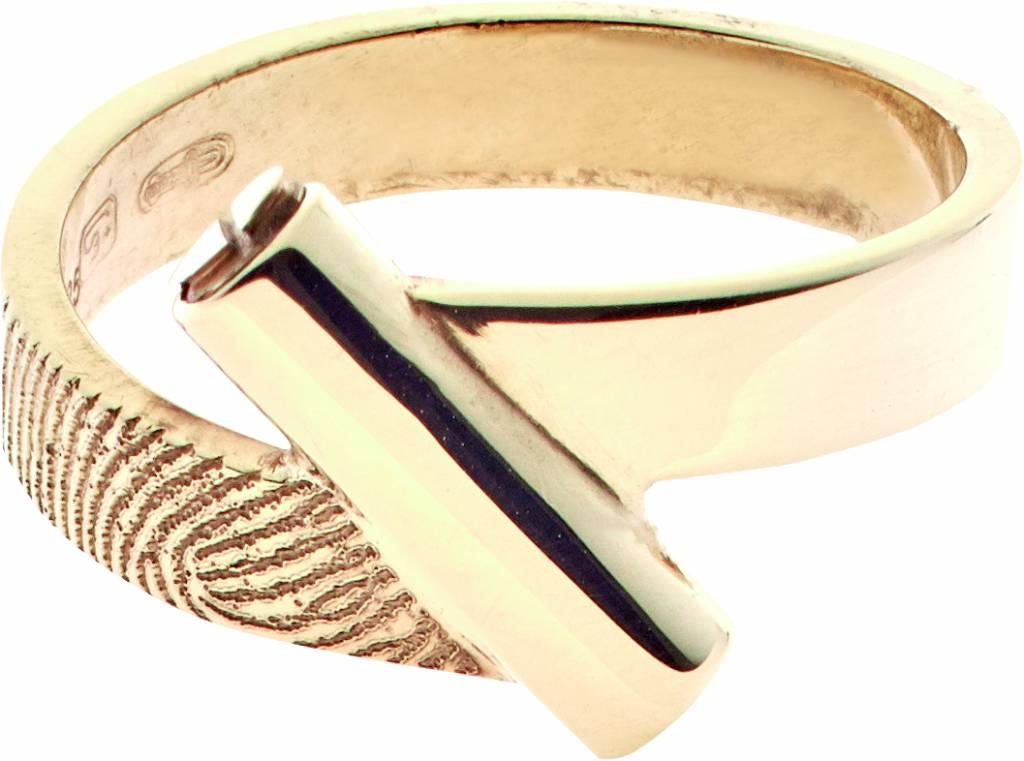 Ring 4 mm. mit Aschebehälter inkl. Abdruck