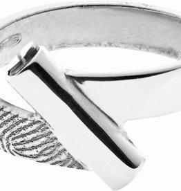 Ring 4 mm. met asbuis incl. vingerafdruk