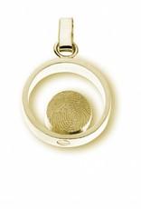 Anhänger Ring mit Ø 8 mm. Runde Fingerabdruck, inkl. Aschebehälter
