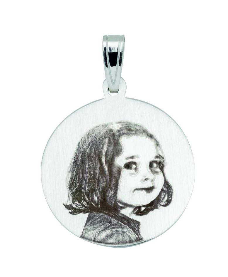 Pendentif photo (gravure) ovale - Copy