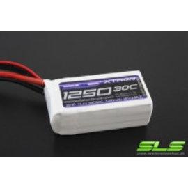 4_SLS Batteries SLS XTRON 1250mAh 3S1P 11,1V 30C / 60C - SLSXT12503130