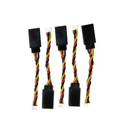 Lynx Heli Innovations Servo Cable JST1.5 to Futaba Adapter, 5 pc      LX1787