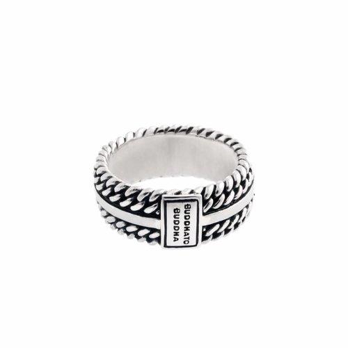 Buddha to Buddha Chain Texture Ring 788