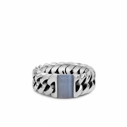 Buddha to Buddha Chain Stone Blue Ring 603BA