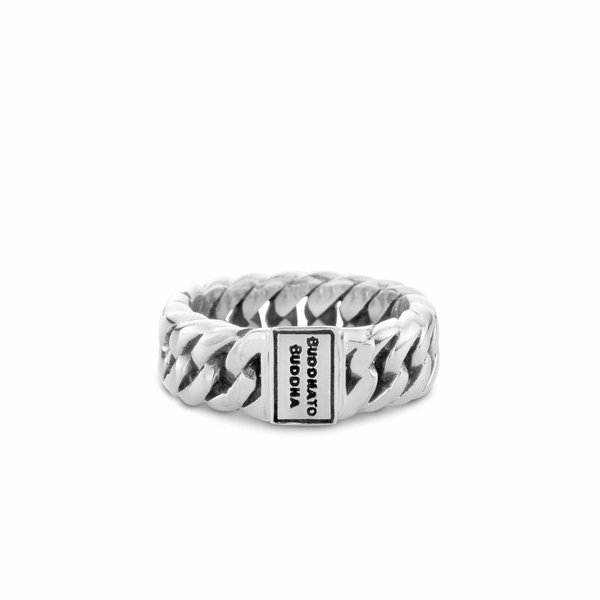 Chain Small zilveren ring (541)