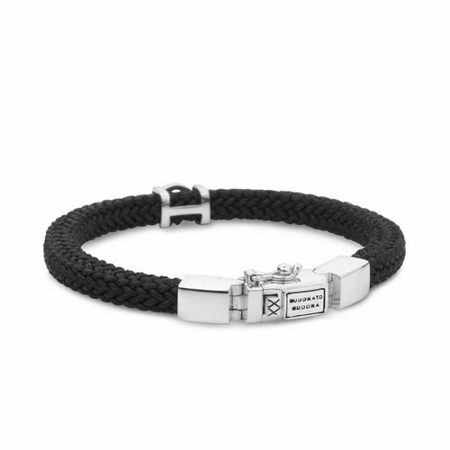 Buddha to Buddha Denise Cord Black Armband 780BL