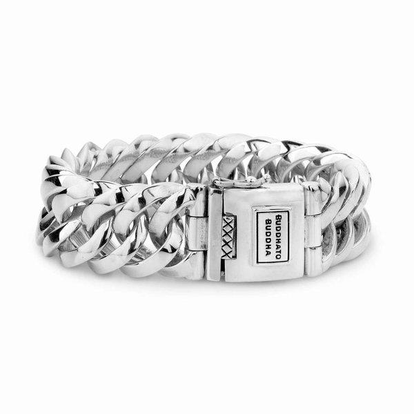Chain Big zilveren armband (080)