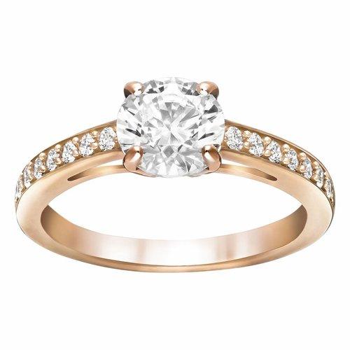 Swarovski Attract Ring Round - Rosegold