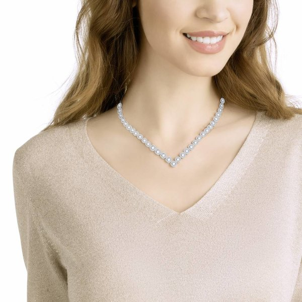 Angelic Square Large Ketting 5368145 - Silver (38 cm)