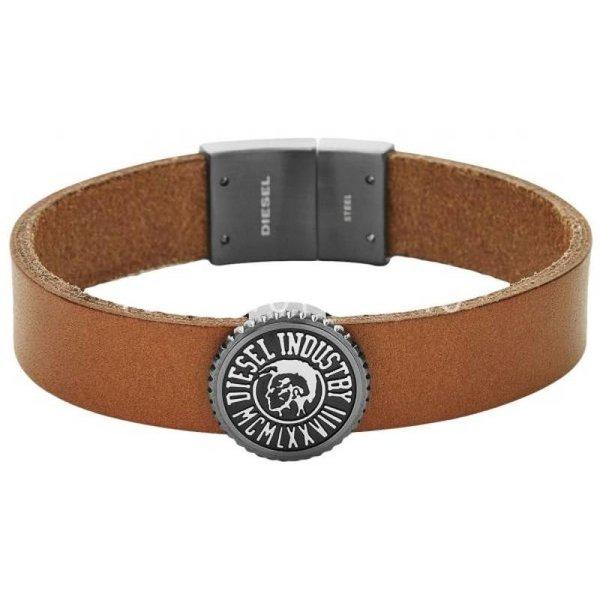 Bruin leren armband DX0907060 (20 cm)