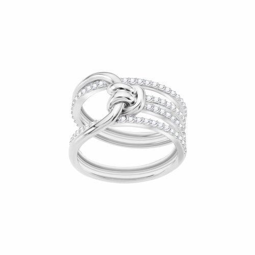 Swarovski Lifelong Ring Wide - Silver