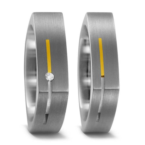 TitanFactory Titanium trouwringen 51854