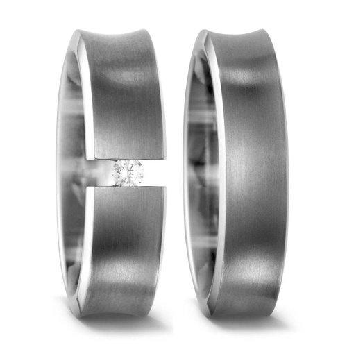 TitanFactory Titanium trouwringen 51317/51307