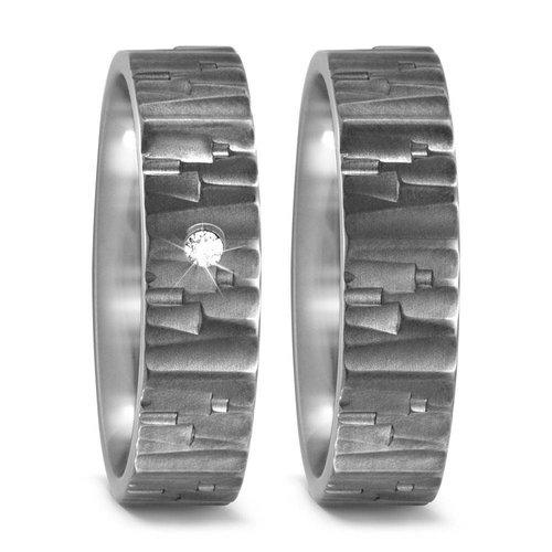 TitanFactory Titanium trouwringen 52480/52472