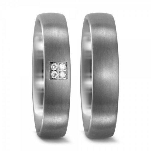 TitanFactory Titanium trouwringen 51675/50993