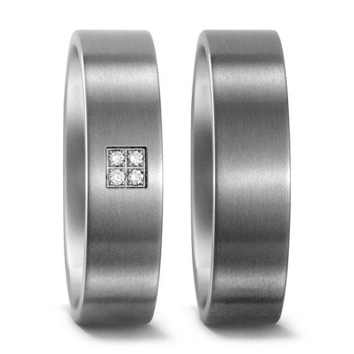 TitanFactory Titanium trouwringen 51654/50972