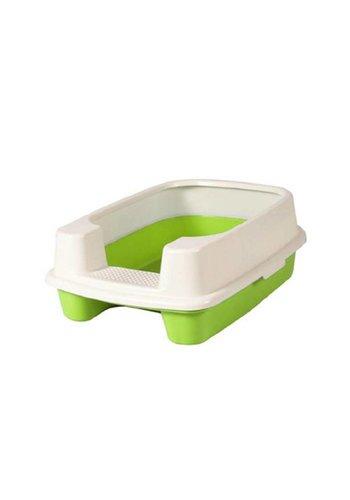 MPets MPets  toilettes pour chats  avec des bordures vertes