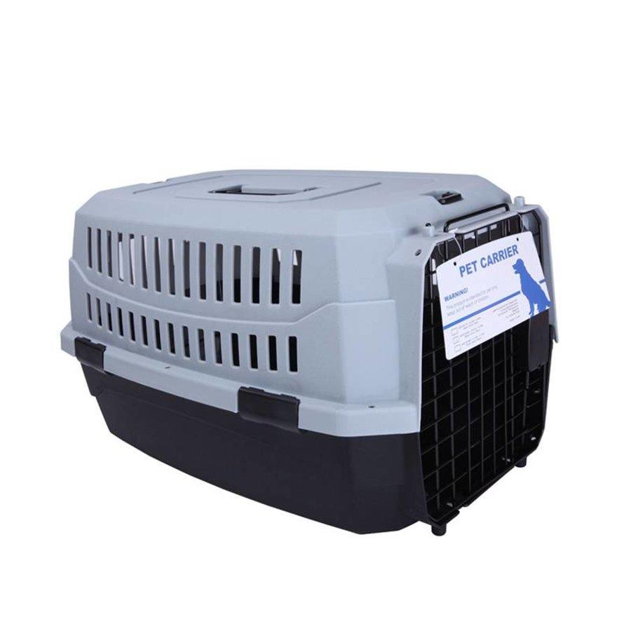 MPets Katten onderweg Transportbox Medium grijs