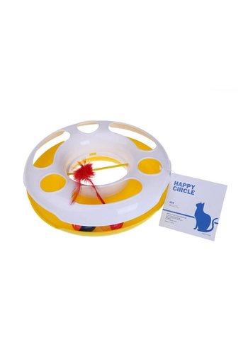 MPets MPets Speelgoed Katten carrousel met 2 balletjes en een veer geel