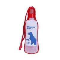 MPets Onderweg Drinkfles Large voor de hond voor onderweg  750 ml rood