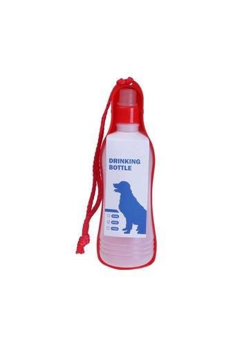 MPets MPets Onderweg Drinkfles Large voor de hond voor onderweg  750 ml rood