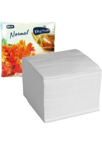 Neckermann Neckermann Papier serviettes  100 pièces  33x33cm 1-pli- Blanc