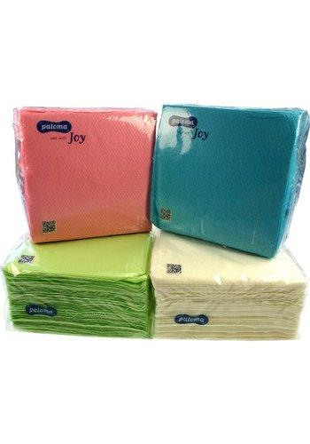 Neckermann Neckermann Papier serviette 100 pièces 30x30 1 pli pastels