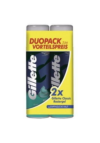 Gillette Gel de rasage  2x200ml peau sensible