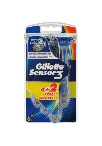 Gillette Sensor 3 einwegscheermes 4+2 gratis