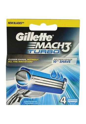 Gillette Mach3 turbo 4 stuks