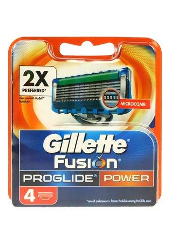 Gillette Gillette Fusion proglide power 4 pièces