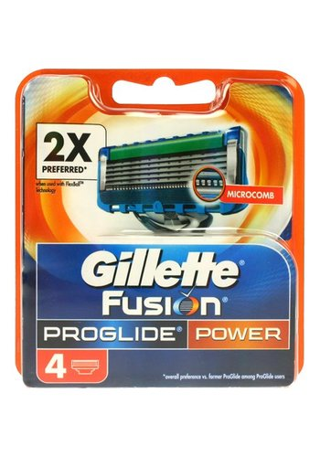 Gillette Gillette Fusion ProGlide Power - 4 stuks