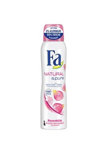 Fa Fa Deospray 150 ml Natural & Pure - bloeiende rozen