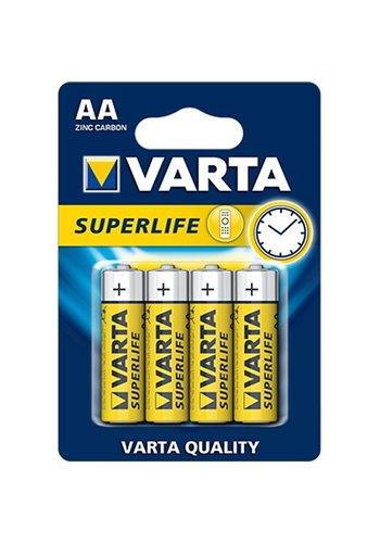 Varta Batterijen superlife mignon aa 4stuks