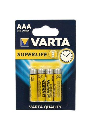 Varta Varta Batteries superlife micro aaa 4 pièces