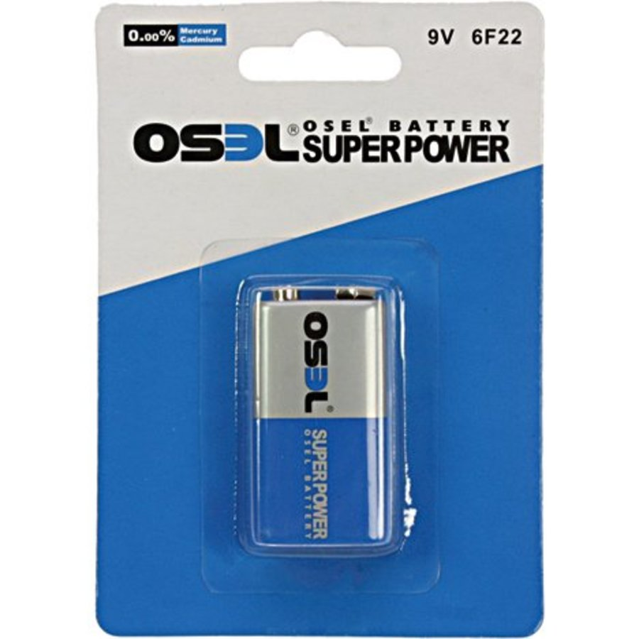 Osel Batterijen Power E-block 1 stuks - 9 volt