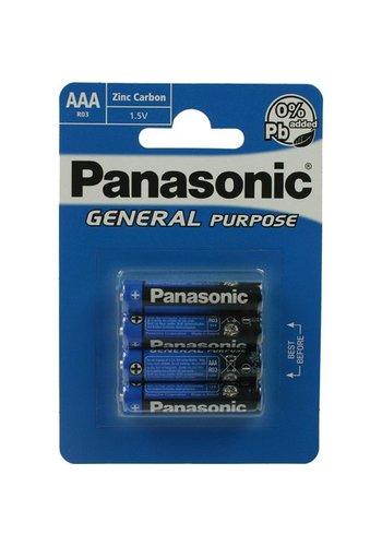 Panasonic Panasonic Batterijen Micro AAA 4 stuks