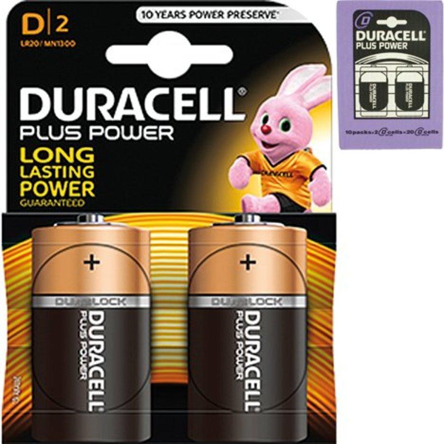 Duracell Batterijen Plus Alkaline Mono 2 stuks MN1300