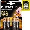 Duracell Duracell Batterijen Plus Alkaline Mignon AA - 4stuks