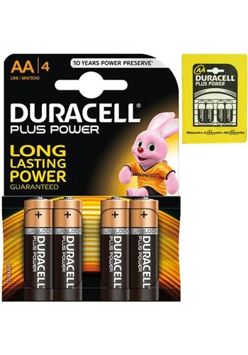 Duracell Batterien plus Alkaline Mignon AA - 4pieces