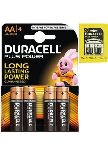 Duracell Duracell  Batteries plus power  Alkaline Mignon AA 4 pièces