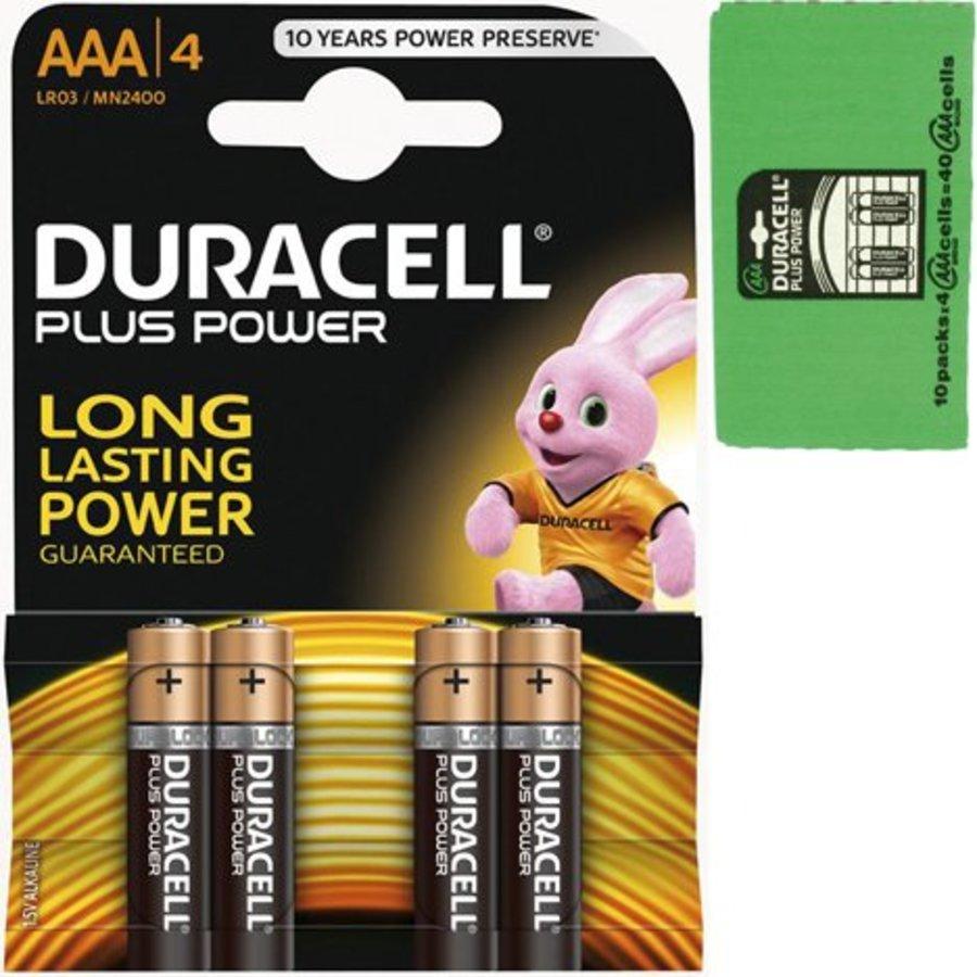 Duracell Batterijen plus alkaline micro aaa 4stuks