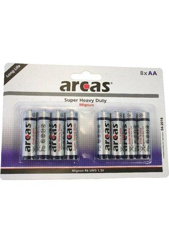 Arcas Arcas Batterijen r06 mignon aa 8stuks