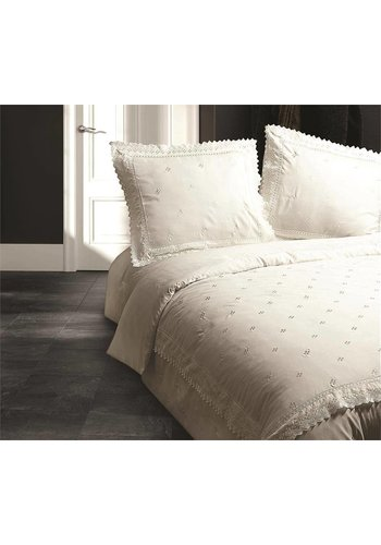 Fancy Embroidery Housse couette  RL 12  Crème