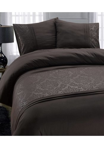 Fancy Embroidery Housse couette  Brussel Gris