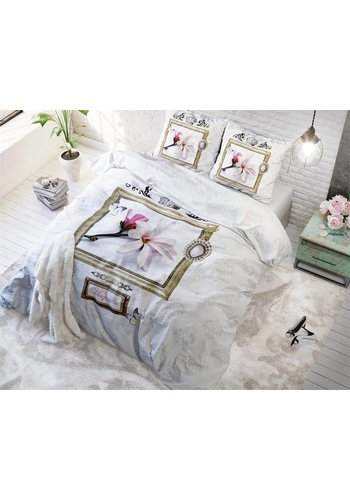 Sleeptime Dekbedovertrek Magnolia Frame White