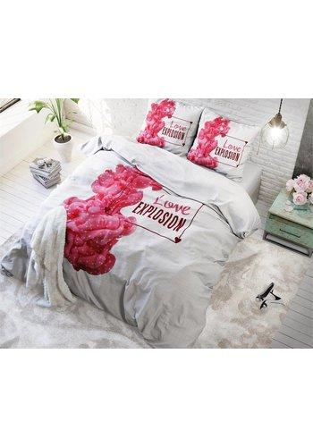 Sleeptime Dekbedovertrek Love Explosion White